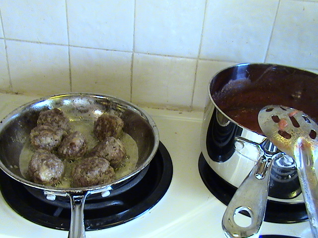 Have A Lot Of Tomatoes Garden Tomato Sauce With Basil And Homemade Meatballs Elkhart County