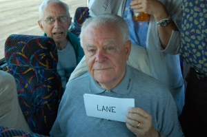 Al Lane on his way to Washington, D.C. with Goshen's VFW Post in 2009. Lane was part of the 29th division who made the first landing on Omaha Beach. He was the only man in his company to survive.