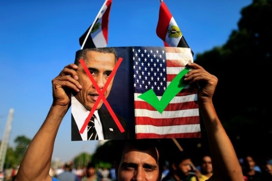 Egyptians are VERY upset with the United States because of its ILLOGICAL stances in the Middle East.