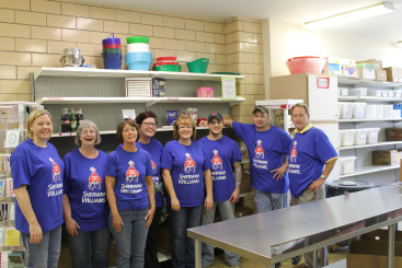 Elkhart County's Church Community Services quickly found ways for Geocel employee volunteers to assist them in serving the Elkhart County area.