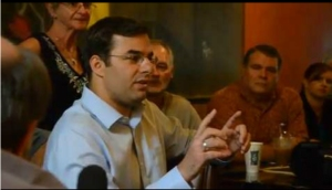 Comments     A     A U.S. Rep. Justin Amash talks about Syria: During a visit to Brownstone Coffee Shop in downtown Battle Creek on Wednesday U.S. Rep. Justin Amash talked about Syria. (John Grap/The Enquirer)