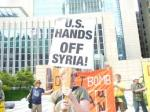 'U.S. Hands off Syria' protest in Minneapolis.