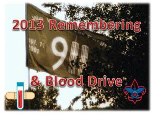 2013 Remembering and Blood Drive