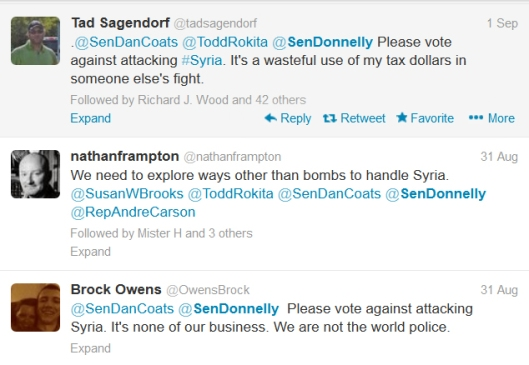 Joe Donnelly Syria tweets 2
