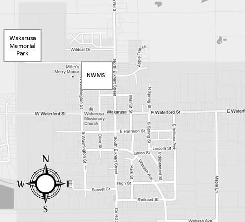 Map to Wakarusa Park