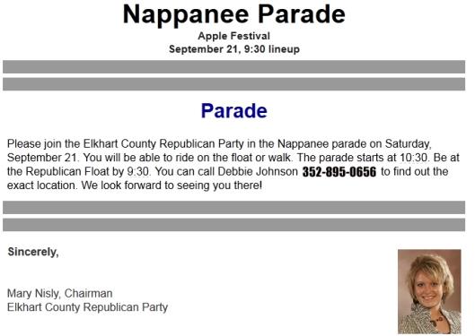 Nappanee Parade
